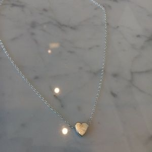 Silver Heart Necklace $40
